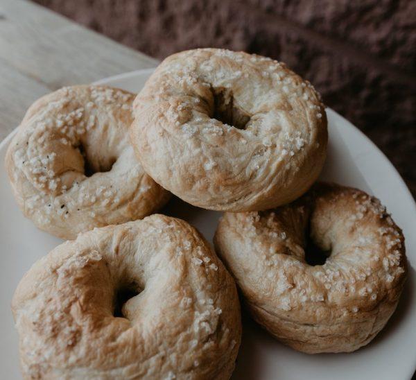 Plain Bagel with salt