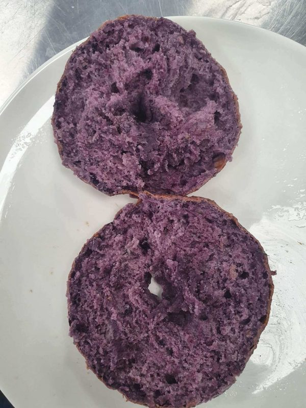 Blueberry Bagel inside!